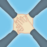 Teamwork Hands Royalty Free Stock Photography