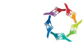 People Supported Hands out Together. Video Animation stock video footage