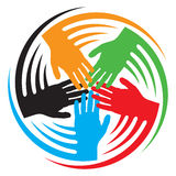 Teamwork hands icon Stock Images