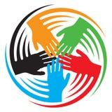 Teamwork hands icon stock illustration