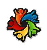 Teamwork Happy Logo Stock Images