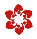 Teamwork heart love logo Stock Image
