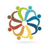 Teamwork helping business card logo Royalty Free Stock Image