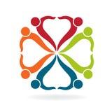 Teamwork helping business card logo Stock Images