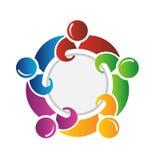 Teamwork herum Stockbild