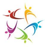 Teamwork Hi five logo Stock Images