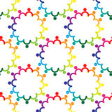 Teamwork holding hands. Seamless pattern colorful background vector image Stock Photo