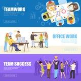 Teamwork Banners Set Stock Image