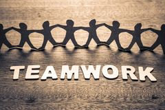 Teamwork and Human Chain Royalty Free Stock Images