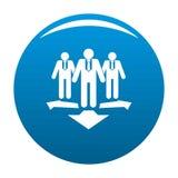 Teamwork icon blue. Teamwork icon. Simple illustration of teamwork icon for any design blue stock illustration