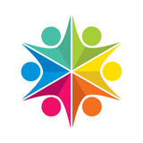 Teamwork icon design concept Royalty Free Stock Image