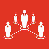 The teamwork icon. Leadership and connection, business teams symbol. Flat Stock Photography