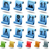 Teamwork Icon Set: Scroll Royalty Free Stock Photos