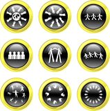 Teamwork icons vector illustration