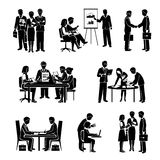 Teamwork Icons Black Royalty Free Stock Photography