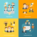Teamwork icons flat Royalty Free Stock Images
