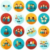 Teamwork Icons Flat Royalty Free Stock Image