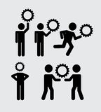 Teamwork icons Stock Photography