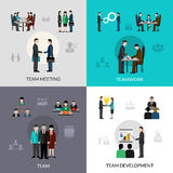 Teamwork Icons Set Stock Photos