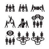 Teamwork icons set. Set of teamwork icons Royalty Free Stock Photography