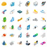 Teamwork icons set, isometric style. Teamwork icons set. Isometric style of 36 teamwork vector icons for web isolated on white background Royalty Free Stock Image