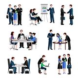 Teamwork Icons Set Royalty Free Stock Photo