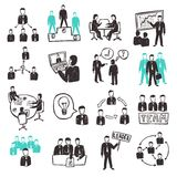 Teamwork Icons Set Stock Image