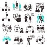 Teamwork Icons Set Stock Image