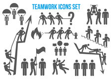 Teamwork icons set Royalty Free Stock Photos