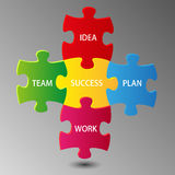 Teamwork idea of success Royalty Free Stock Image