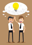 Teamwork of ideas with businessman Royalty Free Stock Photo