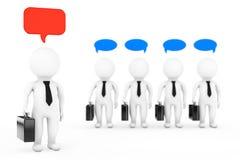 Teamwork Ideas Concept. 3D Businessmans with a Think Bubbles. 3d. Teamwork Ideas Concept. 3D Businessmans with a Think Bubbles on a white background. 3d Stock Photos