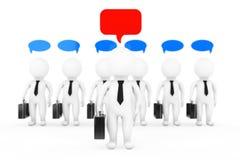 Teamwork Ideas Concept. 3D Businessmans with a Think Bubbles. 3d. Teamwork Ideas Concept. 3D Businessmans with a Think Bubbles on a white background. 3d Stock Images