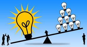Teamwork-Idee stock abbildung