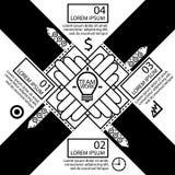 Teamwork-Ideenkonzepte der Informationen grafische Stockbild