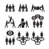 Teamwork-Ikonen eingestellt Lizenzfreie Stockfotografie