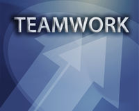 Teamwork illustration Stock Image