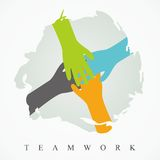 Teamwork Illustration. Illustration of teamwork with colorful hand design Royalty Free Stock Photography