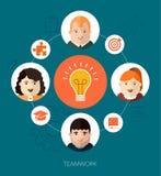 Teamwork illustration Stock Image