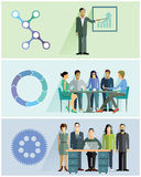 Teamwork illustrations Stock Photo