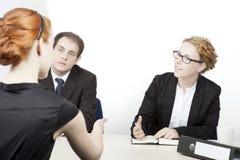 Teamwork im Büro Stockfotografie