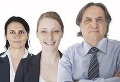Teamwork im weißen Hintergrund Lizenzfreie Stockbilder