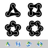 Teamwork infinity chain icons Stock Photo