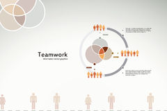 Teamwork-Info-Grafiken Stockfoto
