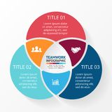 Teamwork infographic, diagram, presentation. Royalty Free Stock Images