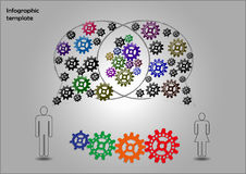 Teamwork infographics. Infographics with sprocket wheels related to teamwork issue Royalty Free Stock Photos