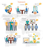 Teamwork Infographics Template Royalty Free Stock Photos