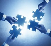 Teamwork and integration concept. Of a businesspeople Stock Images