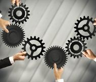Teamwork and integration concept. With connection of gear Royalty Free Stock Image
