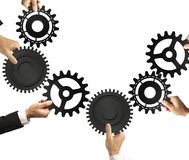 Teamwork and integration concept. With connection of gear Royalty Free Stock Photos